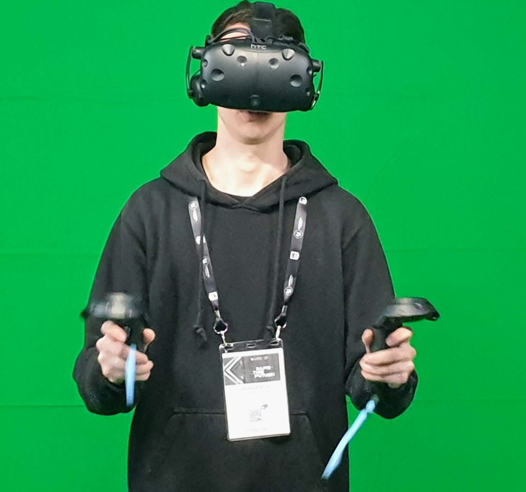 boy with a PC-Based VR
