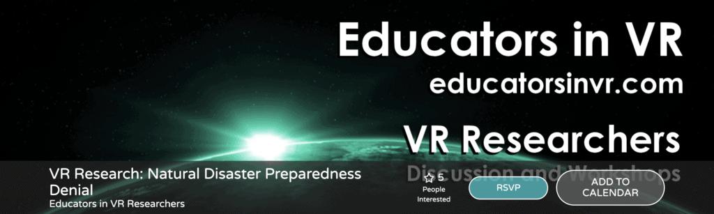 EVENT XR PEDAGOGY ALTSPACE VR