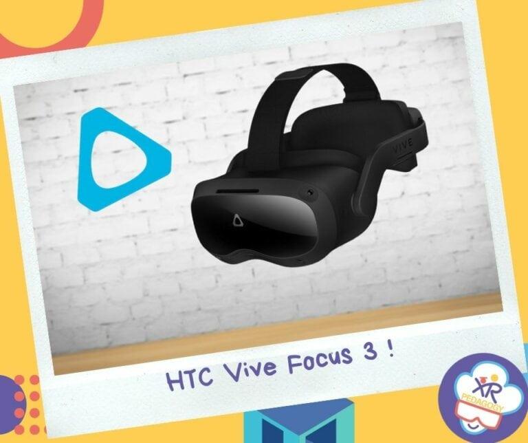 Le casque HTC Vive Focus 3 est un casque de réalité virtuelle autonome qui propose de la 5k et un champ de vision de 120°