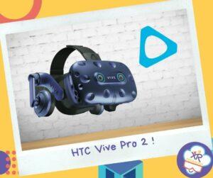 Le HTC Vive pro 2 est un casque de réalité virtuelle haut de gamme avec de la 5k et un champs de vision 120°