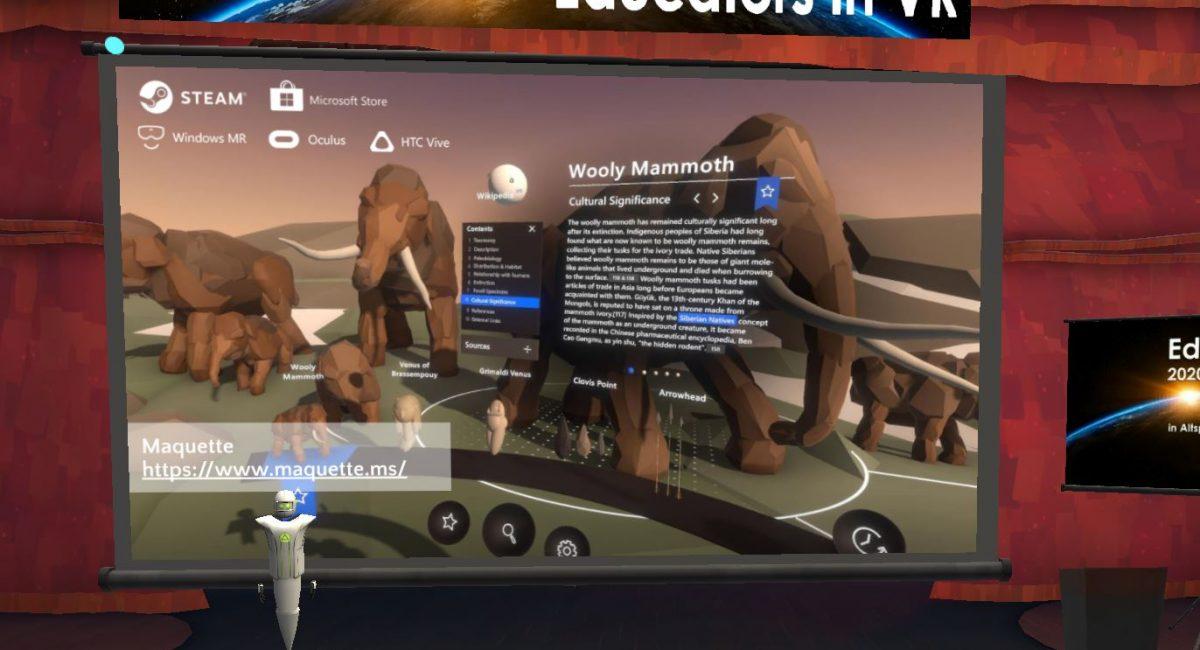 conférence en réalité virtuelle Educator in Vr